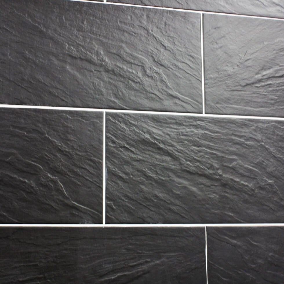 Mikonons slate effect porcelain tile tile mania glasgow mikonos is a stunning black slate dailygadgetfo Image collections