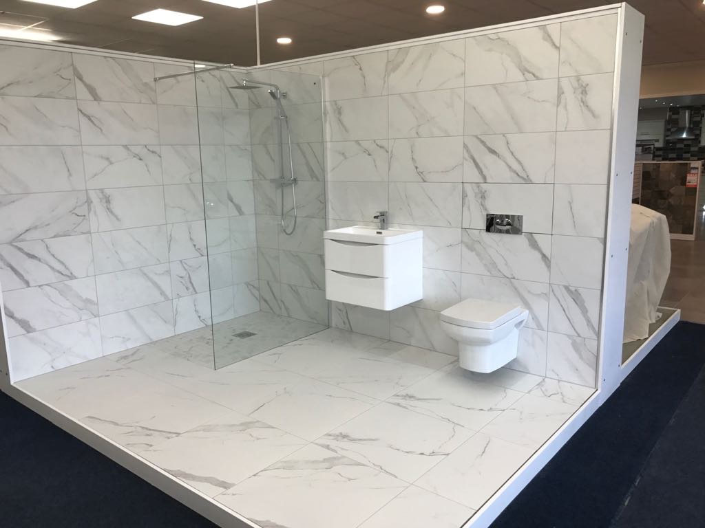 Exciting things happening one of our new bathrooms just installed calacatta dailygadgetfo Image collections